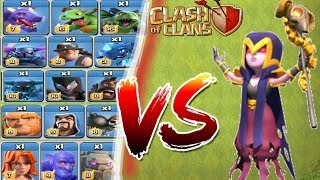 Max Witch Vs All Max Troops / Level 4 witch vs All max troops