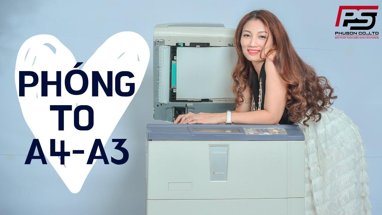 HDSD Cơ Bản Máy Photocopy RICOH || Bài 6: Hướng Dẫn Photocopy Phóng to từ A4 lên A3