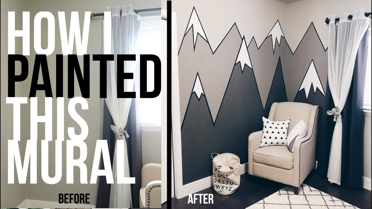 How To Paint Mountains On Bedroom Wall Nursery Diy