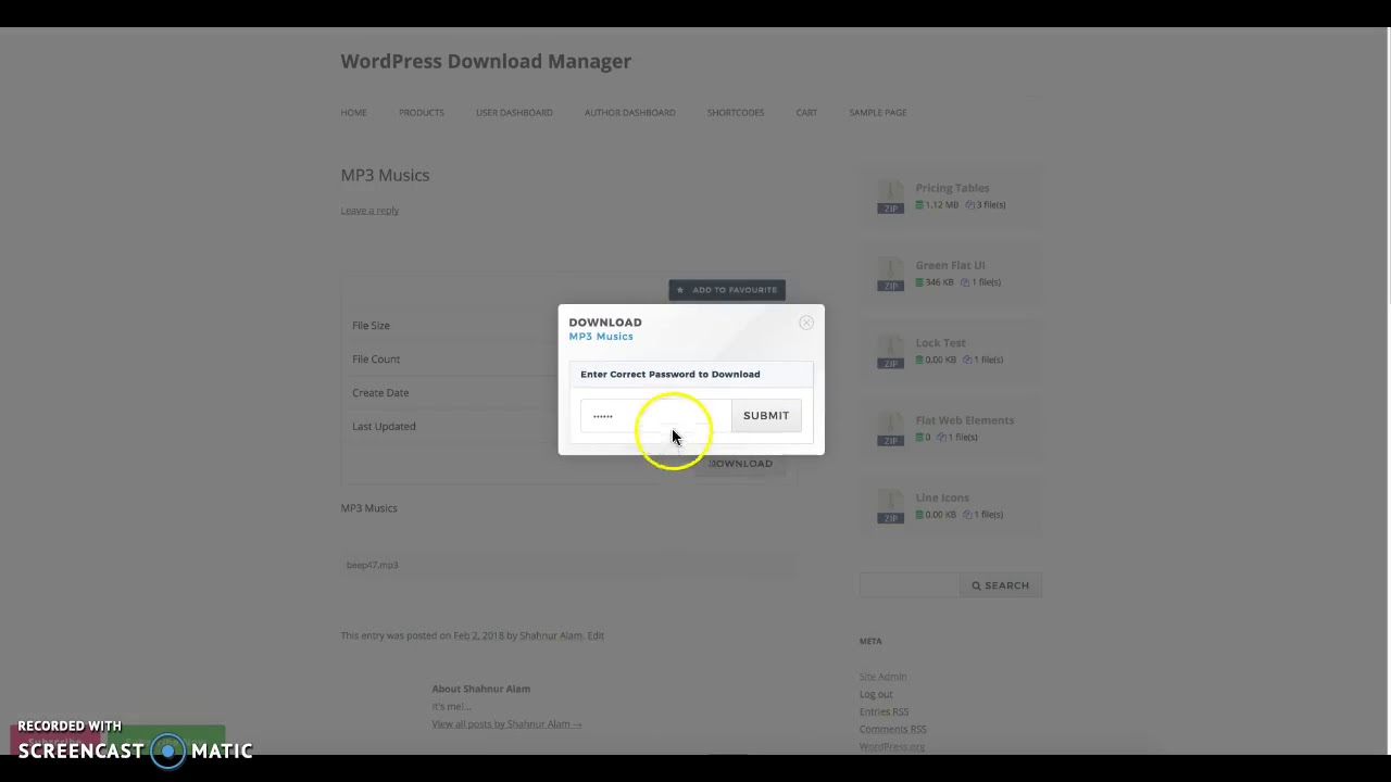 WordPress Download Manager - Password Protected Downloads