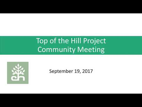Top of the Hill Public Meeting September 19, 2017