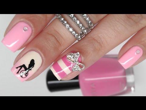 Barbie birthday nail art youtube prinsesfo Images