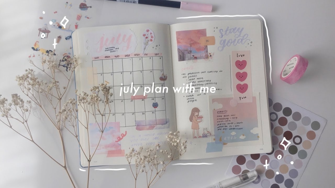 july 2020 bullet journal ☁️💫 | plan with me