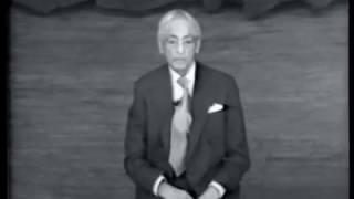 J. Krishnamurti - New York 1971 - Public Talk 1 - To be aware of our past