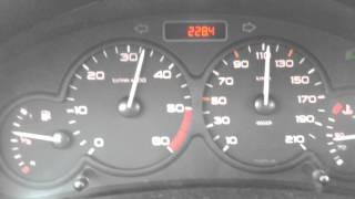 Accélération Peugeot 206 1.4 hdi année 2002 [ Catalyseur bouché ]