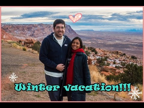 Winter vacation visiting Arizona, United States
