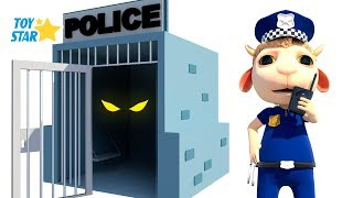 New 3D Cartoon For Kids  Dolly And Friends  Johny Police Jail Playhouse Toy 108