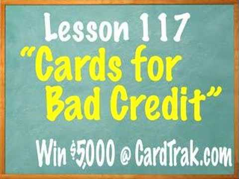 Lesson What Credit Card Will Accept Me With Bad Credit