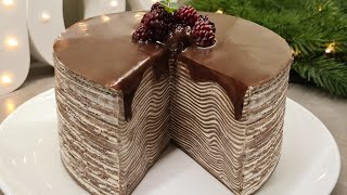 ШОКОЛАДНЫЙ БЛИННЫЙ ТОРТ С ИЗУМИТЕЛЬНЫМ КРЕМОМ Chocolate Pancake Cake