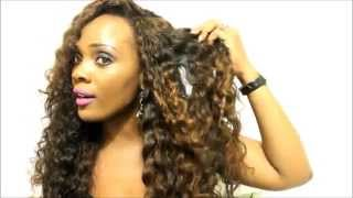 NEW LOOK!!!! Stallion Lengths Indian Curly Hair Update (5wks) Thumbnail