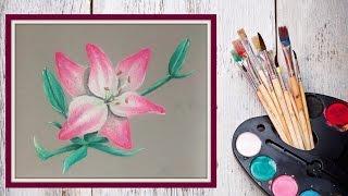 Как нарисовать лилию пастелью! #Dari_Art(Лилии очень красивые и многим любимые цветы! В этом видео предлагаю вместе со мной создать цветок лилии..., 2015-07-23T11:08:18.000Z)