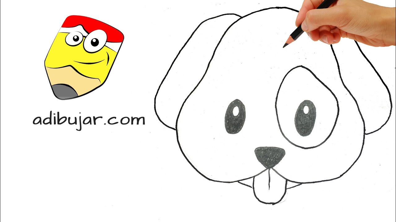 Cmo dibujar un perro emoji de Whatsapp a lpiz  Dibujos de