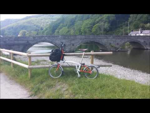 Brompton Folding Bike ride from Dolgellau to Machynlleth along the A487