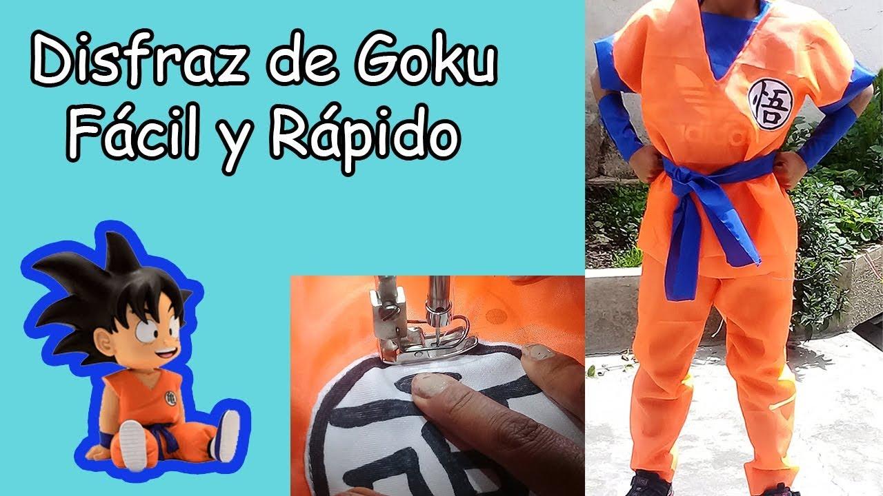 Como Hacer El Disfraz De Goku Fácil Y Rápido Youtube