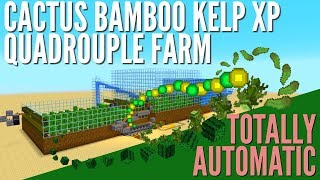 XP Farm: How to make an Infinite Automatic Kelp and Cactus Farm in Minecraft 1.14 With Avomance