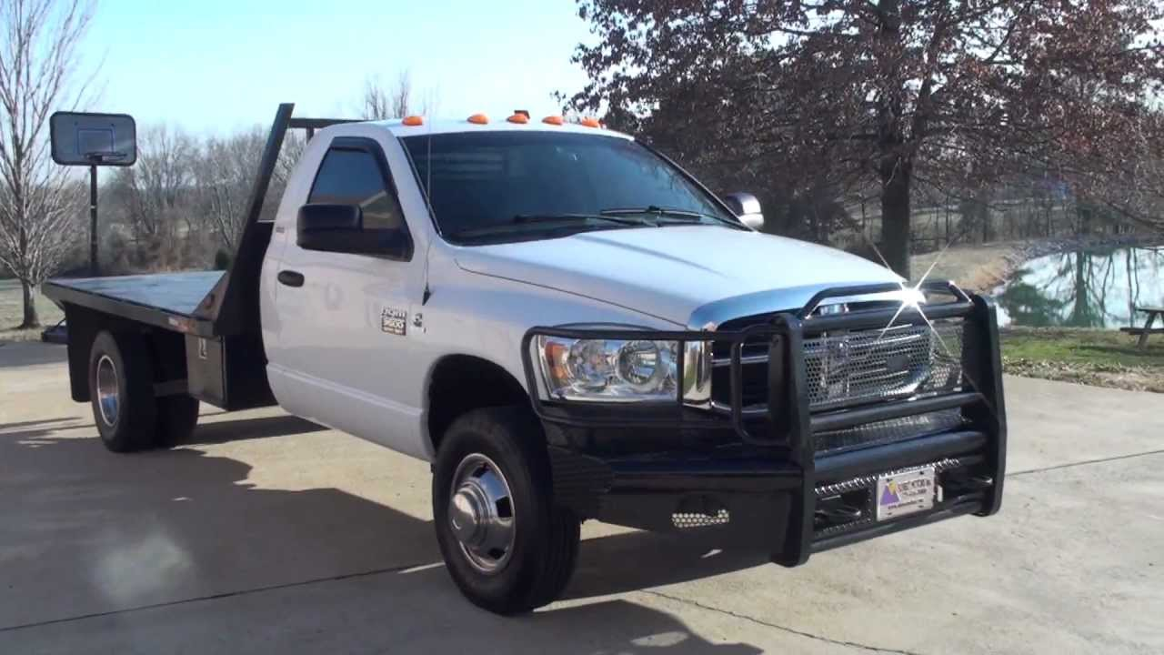 Hd 2010 Dodge Ram 3500 Slt Regular Cab Flat 6 7l Diesel