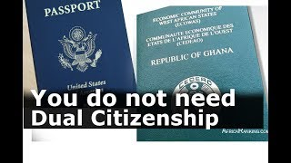 You do not need Dual Citizenship, not obligatory: PROF. KWAKU ASARE