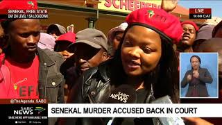 EFF supporters protesting outside the Senekal Magistrate's Court