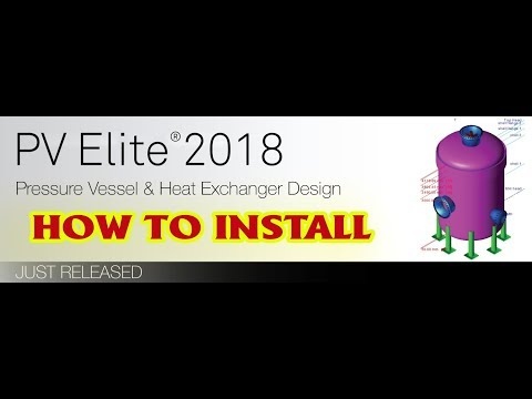 How to install Intergraph PV Elite 2018