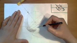 Штриховка шара. Видеоурок по рисованию Анны Кошкиной.