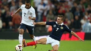 Theo Walcott goal 1-1 England v Scotland @ Wembley