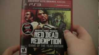 Red Dead Redemption: Game of the Year Edition PS3 Unboxing