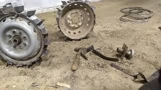 как сделать железные колеса для мотоблока