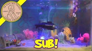 spongebob fish tank new shark sea horse rc submarine