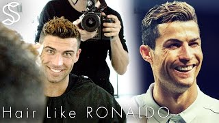 Cristiano Ronaldo hairstyle 2017 & short summer haircut with color for men