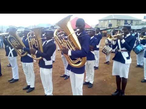 Nigerian national anthem by the Boys' Brigade Nigeria, Jabi battalion band. @ Kado Life-Camp, Abuja.