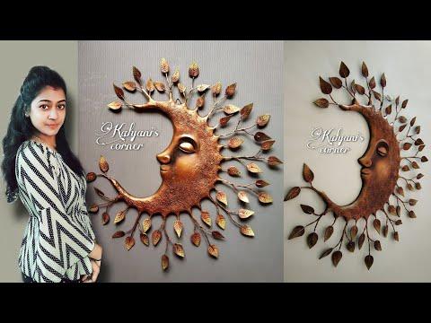 Wall hanging craft ideas/3D Mural wall art/decoration ideas/Cardboard crafts/Home decorating ideas