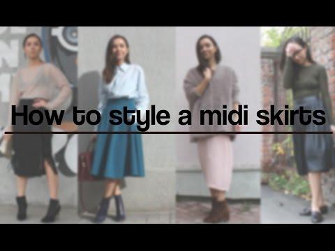 Модные юбки миди: с чем носить в этом сезоне?