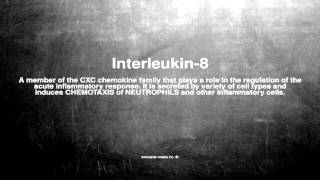 Medical vocabulary: What does Interleukin-8 mean