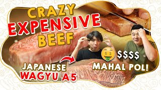 JAPANESE WAGYU A5! CRAZY EXPENSIVE BEEF! MAHAL POL! 🤑$$$$
