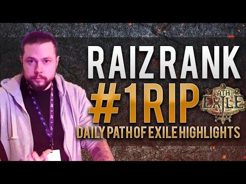 Raiz rank #1 RIP | Daily Path of Exile Highlights