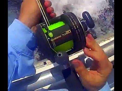 54238dc90b9 Shimano TLD-20 Reel on Terez TC4 Rod Spooled 60# test mono 80# Seaguar  Leader Bottom Fishing