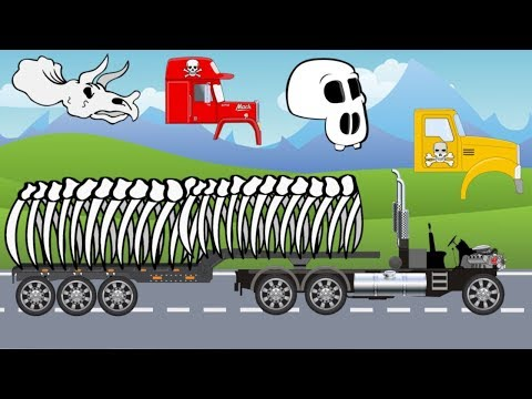 Halloween Truck and Pumpkin Excavator   What Cabin   Cartoon Animation for Children or Babies