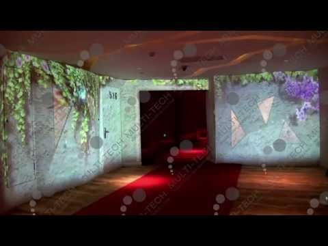 Multi-Tech Interactive Projection Butterfly Walls