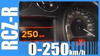 2015 Peugeot RCZ-R 270 HP 0-250 km/h VERY FAST! Acceleration Test Beschleunigung Autobahn