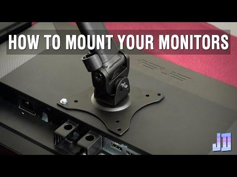 How To Install A Vesa Mount Tutorial - Setup Guide   Setup Makeover Part 2