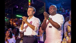 france president and govambode stand up and clap as femi kuti blows one note for over 2 mins