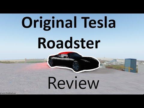 Tesla Roadster 1 0 Review in Roblox Vehicle Simulator! (Roblox in 4K)