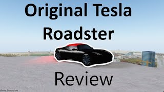 Tesla Roadster 1 0 Review in Roblox Vehicle Simulator! (Roblox in 4K)