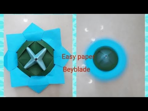Paper Beyblade l Easy Paper Spinner l How to make a paper beyblade?