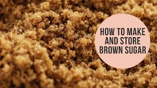 How to Make & Store Brown Sugar | 5 Minute Baking Tip