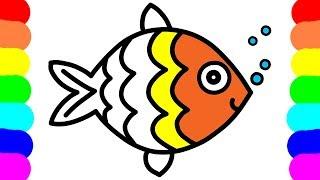 Vẽ Con Cá Đầy Màu Sắc Cho Bé - Tập Vẽ Tranh và Tô Màu Sáng Tạo