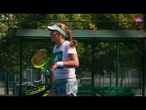 Jelena Ostapenko Practice - Wuhan 2017