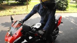 kawasaki ninja rr 150 cc new 2014 merah knalpot racing tes ride
