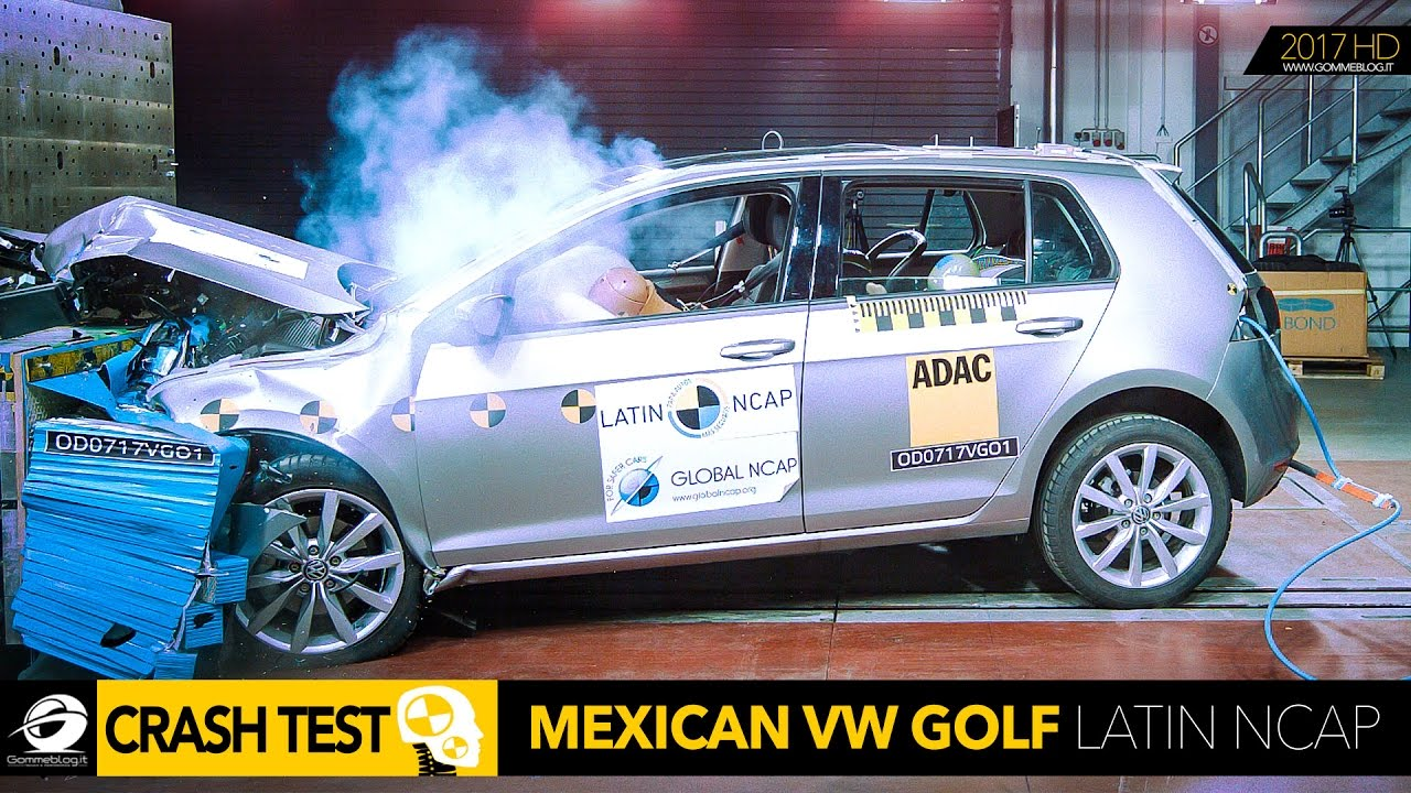 volkswagen vw golf 7 car crash test latin ncap 2017. Black Bedroom Furniture Sets. Home Design Ideas