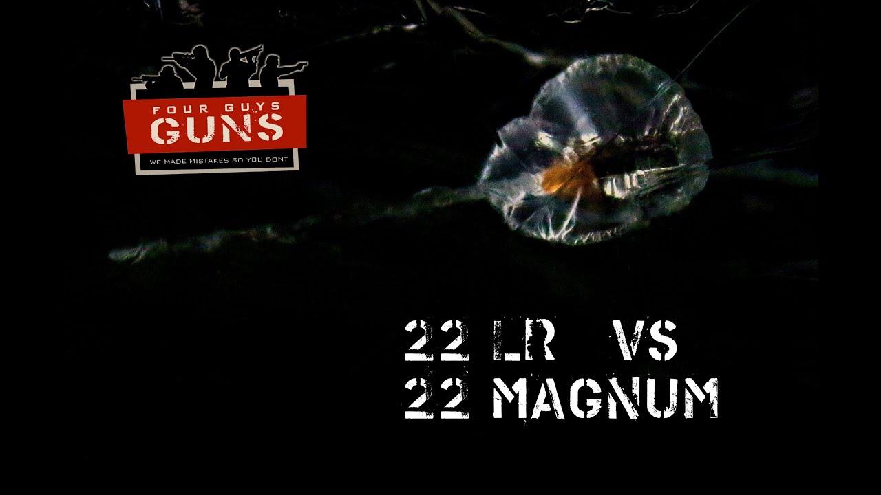 22 LR vs 22 Magnum Clear Ballistics Comparison